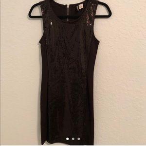 H&M Bodycon Mini Dress Sequin Black